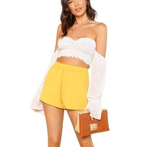 Strapless off the shoulder top